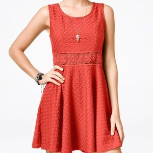 American Rag A-line Dress with Crochet Stitching